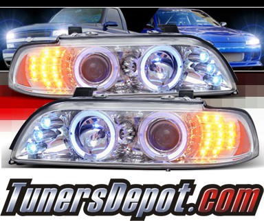 SPEC-D® Halo LED Projector Headlights - 97-00 BMW 528i E39 (Version 2)