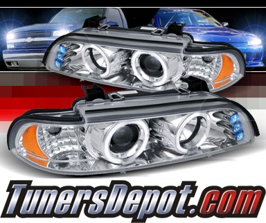 SPEC-D® Halo LED Projector Headlights - 97-00 BMW 540i E39