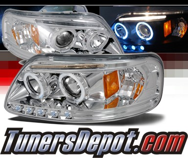 2001 ford f 150 spec d halo led projector headlights f 150 f150 2lhp f15097 tm. Black Bedroom Furniture Sets. Home Design Ideas