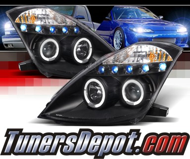 SPEC-D® Halo LED Projector Headlights (Black) - 03-05 Nissan 350Z (w/o Stock HID)
