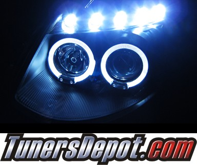 SPEC-D® Halo LED Projector Headlights (Black) - 03-08 Infiniti G35 2dr (w/ OEM HID Only)
