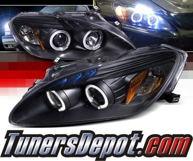 SPEC-D® Halo LED Projector Headlights (Black) - 04-09 Honda S2000