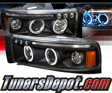 SPEC-D® Halo LED Projector Headlights (Black) - 94-01 Dodge Ram 2500 / 3500 Pickup