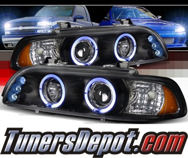 SPEC-D® Halo LED Projector Headlights (Black) - 97-00 BMW 540i E39