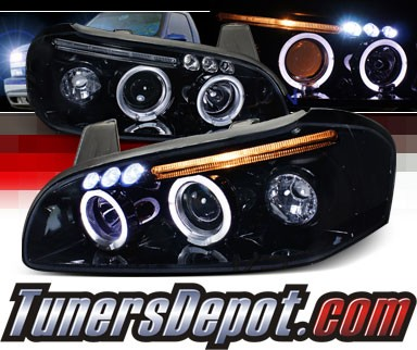 SPEC-D® Halo LED Projector Headlights (Glossy Black) - 00-01 Nissan Maxima