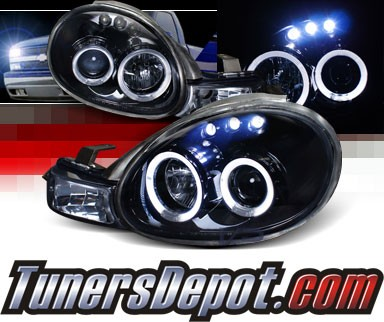 SPEC-D® Halo LED Projector Headlights (Glossy Black) - 00-02 Dodge Neon