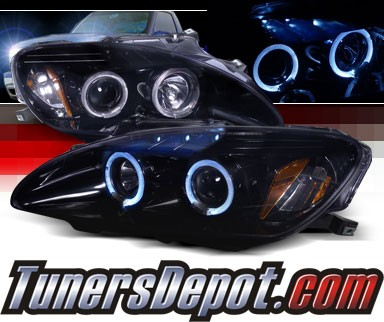 SPEC-D® Halo LED Projector Headlights (Glossy Black) - 00-03 Honda S2000