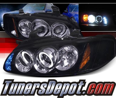 SPEC-D® Halo LED Projector Headlights (Glossy Black) - 00-03 Nissan Sentra