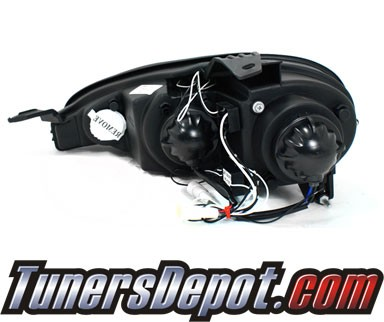 SPEC-D® Halo LED Projector Headlights (Glossy Black) - 01-05 Mazda MX-5 MX5