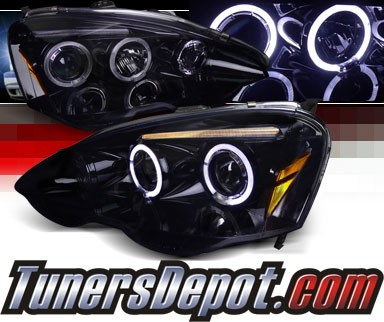 SPEC-D® Halo LED Projector Headlights (Glossy Black) - 02-04 Acura RSX