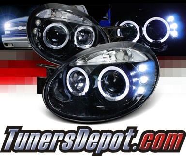 SPEC-D® Halo LED Projector Headlights (Glossy Black) - 03-05 Dodge Neon