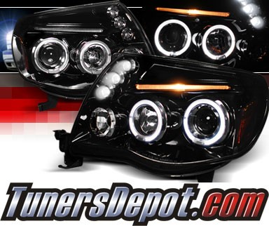 SPEC-D® Halo LED Projector Headlights (Glossy Black) - 05-11 Toyota Tacoma