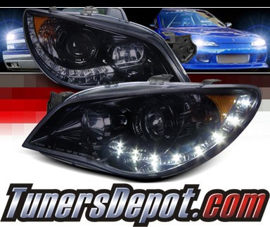 SPEC-D® Halo LED Projector Headlights (Glossy Black) - 06-07 Subaru Impreza