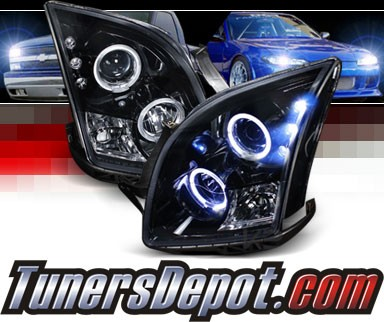 SPEC-D® Halo LED Projector Headlights (Glossy Black) - 06-09 Ford Fusion