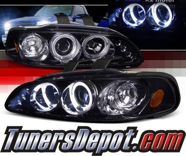 SPEC-D® Halo LED Projector Headlights (Glossy Black) - 92-95 Honda Civic 2/3dr