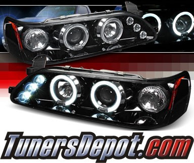 SPEC-D® Halo LED Projector Headlights (Glossy Black) - 93-97 Toyota Corolla