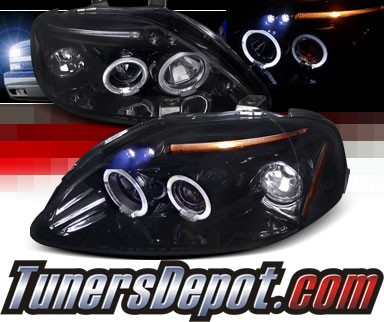 SPEC-D® Halo LED Projector Headlights (Glossy Black) - 96-98 Honda Civic