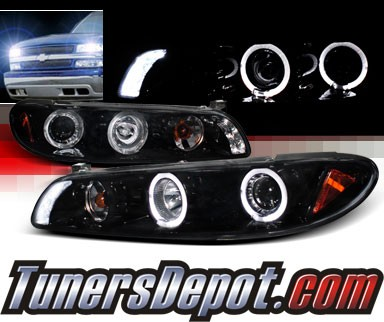 SPEC-D® Halo LED Projector Headlights (Glossy Black) - 97-03 Pontiac Grand Prix
