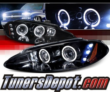 SPEC-D® Halo LED Projector Headlights (Glossy Black) - 98-04 Dodge Intrepid