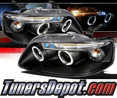 Spec D Halo Projector Headlights Black 04 08 Chevy Aveo 5dr 2lhp Ave045jm Tm