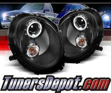SPEC-D® Halo Projector Headlights (Black) - 07-12 Mini Cooper 2dr (Incl. Convertible)