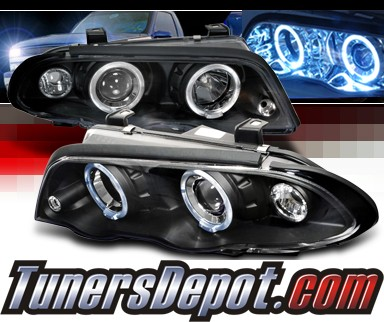 spec d halo projector headlights black 99 01 bmw 325i. Black Bedroom Furniture Sets. Home Design Ideas