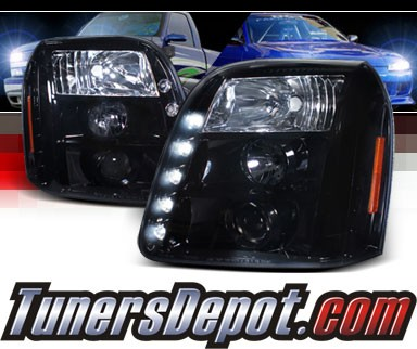 SPEC-D® LED Projector Headlights (Glossy Black) - 07-10 GMC Yukon
