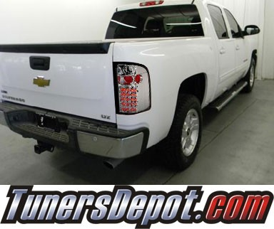 SPEC-D® LED Tail Lights - 09-10 Chevy Silverado Pickup Truck with 3047 Reverse Bulb  ONLY (not 921 bulb)