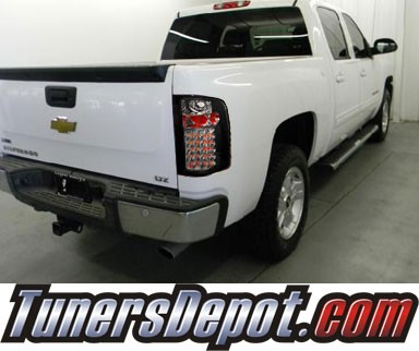 SPEC-D® LED Tail Lights (Black) - 07-13 Chevy Silverado Pickup Truck