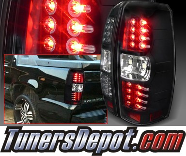 SPEC-D® LED Tail Lights (Black) - 07-14 Chevy Avalanche