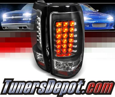 SPEC-D® LED Tail Lights (Black) - 99-02 Chevy Silverado