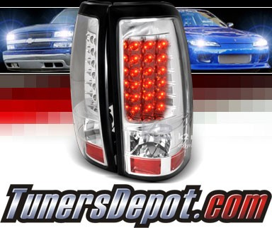 SPEC-D® LED Tail Lights (Chrome) - 03-06 Chevy Silverado