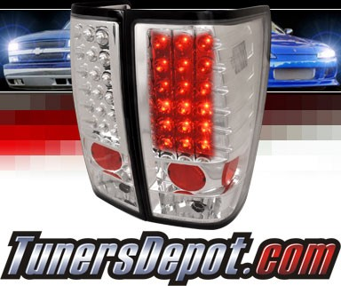 SPEC-D® LED Tail Lights (Chrome) - 04-12 Nissan Titan