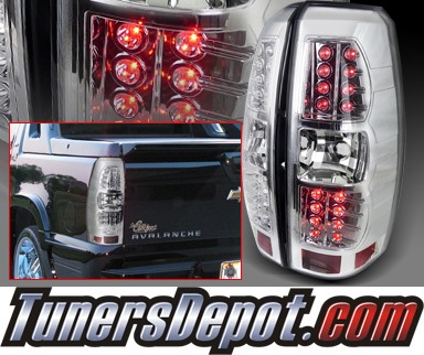 SPEC-D® LED Tail Lights (Chrome) - 07-12 Chevy Avalanche