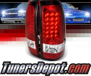 SPEC-D® LED Tail Lights (Red) - 03-06 Chevy Silverado