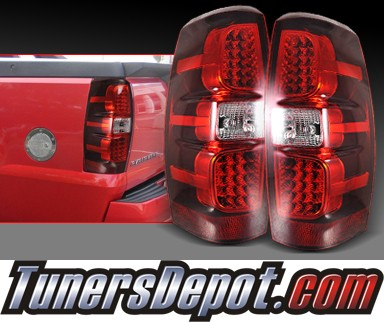 SPEC-D® LED Tail Lights (Red) - 07-12 Chevy Avalanche
