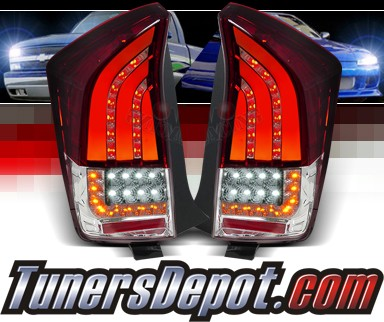 SPEC-D® LED Tail Lights (Red) - 10-11 Toyota Prius (Version 2)