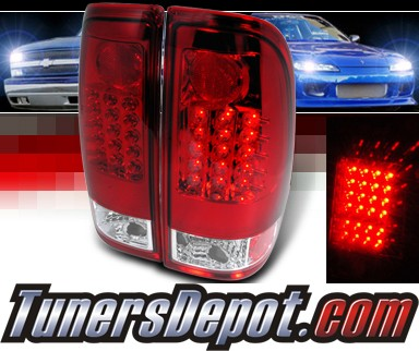 SPEC-D® LED Tail Lights (Red) - 99-07 Ford F-550 F550 Super Duty Truck