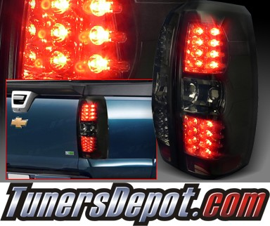 SPEC-D® LED Tail Lights (Smoke) - 07-12 Chevy Avalanche