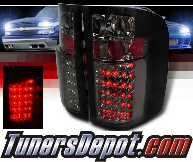 SPEC-D® LED Tail Lights (Smoke) - 07-13 Chevy Silverado Pickup Truck