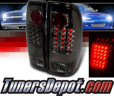 SPEC-D® LED Tail Lights (Smoke) - 99-07 Ford F-550 F550 Super Duty Truck