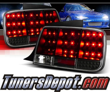 SPEC-D® Sequential LED Tail Lights (Black) - 05-09 Ford Mustang