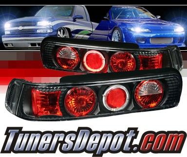Sonar® Altezza Tail Lights (Black) - 90-93 Acura Integra 2dr. Coupe