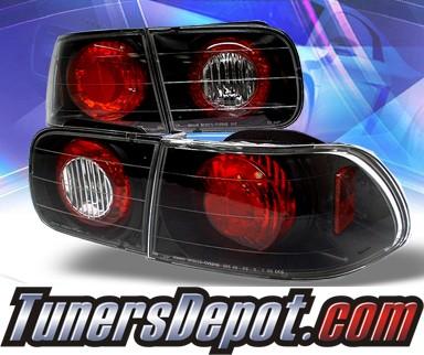*Altezza JDM Style*94-95 Honda Accord 2//4 Door Black Tail Lights Rear Brake Lamp
