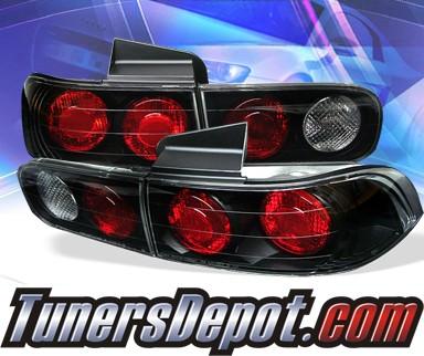 Sonar Altezza Tail Lights Black 94 01 Acura Integra 4dr Alt Yd Ai94 4d Bk