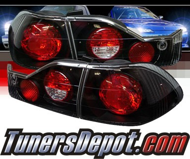 Sonar® Altezza Tail Lights (Black) - 98-00 Honda Accord 4dr