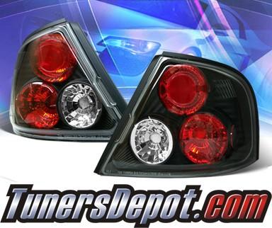 Sonar Altezza Tail Lights Black 98 01 Nissan Altima Alt Yd Na98 Bk
