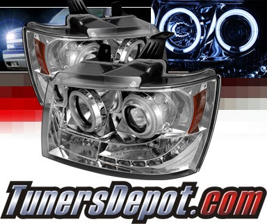 Sonar® CCFL Halo Projector Headlights - 07-14 Chevy Avalanche
