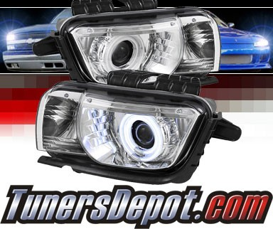 Sonar® CCFL Halo Projector Headlights - 10-13 Chevy Camaro