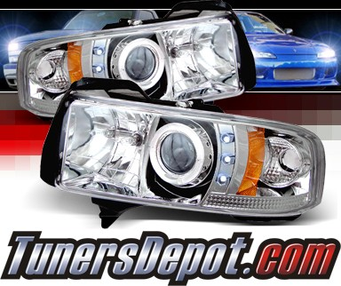 Sonar® CCFL Halo Projector Headlights - 94-01 Dodge Ram 2500 / 3500 Pickup